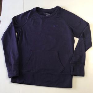 Nike Therma-Fit Sweatshirt in a deep plum color